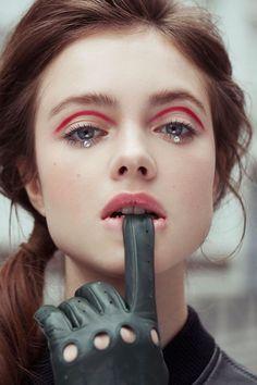 61 Trendy makeup red fantasy make up Pink Eye Makeup, Eye Makeup Art, Hair Makeup, Men Makeup, Vogue Makeup, Glitter Makeup, Makeup Geek, Makeup Trends, Makeup Inspo