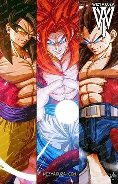 Goku Vegeta & Gogeta by wizyakuza