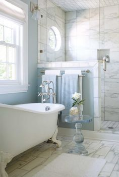 Colorado Homes & Lifestyles - bathrooms - white bath mat, white bath ...