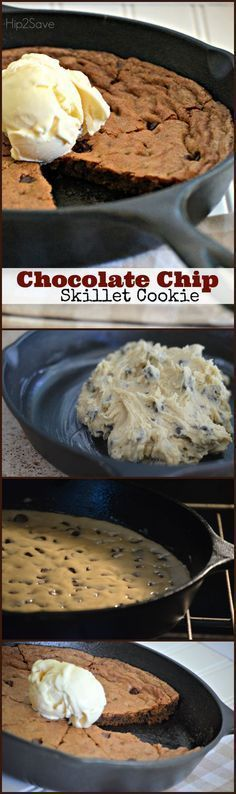 Chocolate Chip Skillet Cookie (Easy Restaurant Style Dessert) – Hip2Save