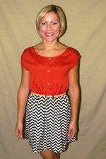 Cevevon Orange Dress $42.00