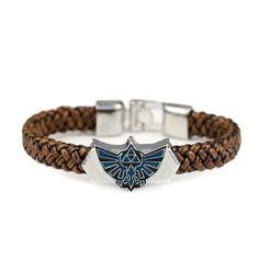 7c57a72b5ab44 The Legend of Zelda Leather Emblem Bracelet