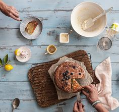 A classic French lemon yoghurt cake measured by yoghurt pottle. Tres Bon! Lovingly created by Annabel Langbein.