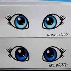 stap voor stap hoe je de IRIS van de oog mooi kunt kleuren (hier met copics). Ook mooie combinaties qua kleuren