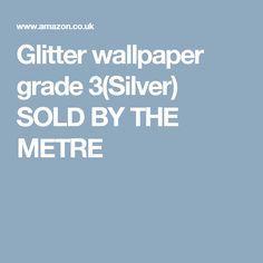Great prices on your favourite Home brands, and free delivery on eligible orders. Glitter Walls, Glitter Wallpaper, Grade 3, Free Delivery, Silver, Things To Sell, Sparkly Walls, Bright Walls, Money