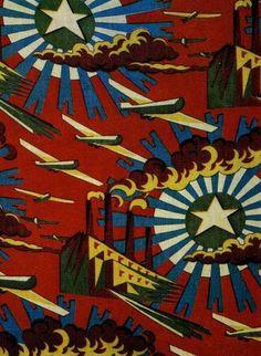 Soviet fabrics design, 1927.