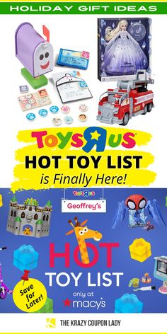 Ready for your kid's Holiday gift list to drop or do you just need Christmas gift ideas for kids? The 2021 Toys R Us Hottest Toys List is here! Toys R Us and Macy's have teamed up together to bring the toy deals back. As a reminder, we may see a toy shortage this holiday season, so make sure you're planning ahead, and start shopping now. The Krazy Coupon Lady has the deals on video games, LEGO products, L.O.L. Surprise! toys, and more, as well as the money-saving shopping tips & hacks you need! Lego Products, Hottest Toys, Toy Deals, Coupon Lady, Shopping Tips, Holidays With Kids, Toys R Us, Gift List, Christmas Fun