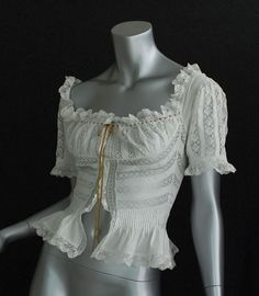 French lace lingerie jacket, c.1905.