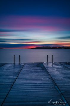 That sky!!!! ~D (Askimsviken, Göteborg #sunset lake reflection blue pier amazing seascape nature sky clouds)