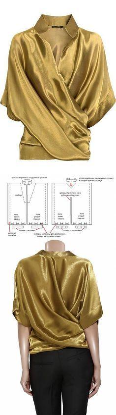 Выкройка оригинальной блузки / Простые выкройки /