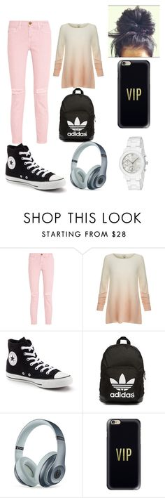 """Casual"" by annika-1229 ❤ liked on Polyvore featuring Current/Elliott, Joie, Converse, adidas Originals, Beats by Dr. Dre, Casetify and Gucci"