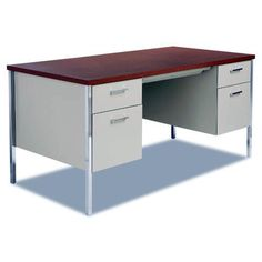 Super Creative double executive desk that will impress you Double Loft Beds, Double Desk, Home Office, Office Desk, Bunk Bed With Desk, Ikea Desk, White Desks, Work Desk, Modern Dining Chairs