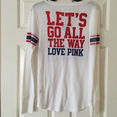 Final ReductionNew York Giants top NY Giants top in large by Pink, back says Let's go all the way PINK Victoria's Secret Tops Tees - Long Sleeve