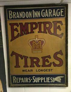 RARE Empire Tires Sign