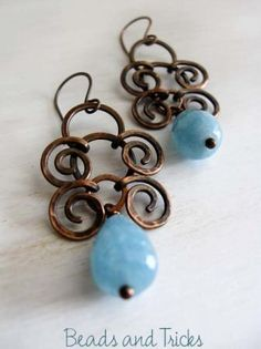 For Marcie: We should make these earings! Aegean blue by Beads and Tricks from Italy