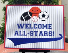 all-star birthday party welcome sign