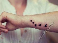 Татуировка Стая уток