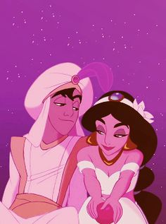 Aladdin is so attractive, just look at the way he looks at her...