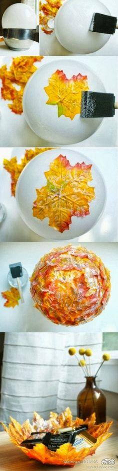 Blog My Little Party - Ideas e Inspiración para Fiestas: DIY Otoñal: Bowl de hojas