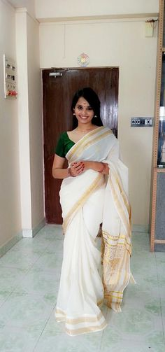 Aarushi in Kerala Traditional Saree