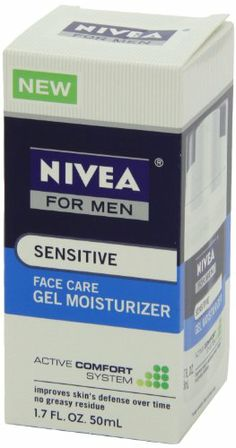 Nivea Sensitive Gel Moisturizer for Men, 1.7 Ounce Helps improve skin's defense over time. Soothes and helps to prevent irritation. No greasy residue.  #Nivea #Beauty