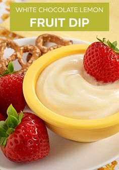We love this White Chocolate Lemon Fruit Dip! It makes already tasty fruit even more delicious, and it's ready in 5 minutes.