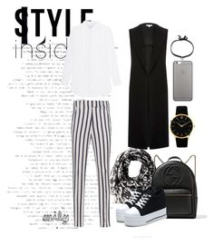 """""""monochrome style"""" by wilypr on Polyvore featuring Calvin Klein, Dondup, Gucci, River Island, Larsson & Jennings, Native Union and DANNIJO"""