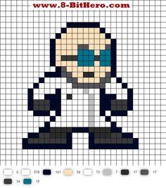 Dr. Hugo Strange DC Perler Bead Pattern