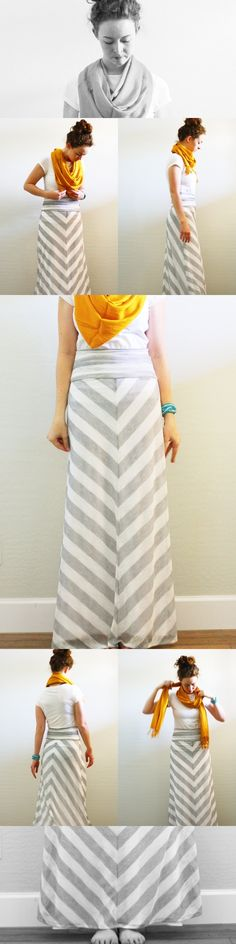 chevron skirt, worn by the most beautiful model I have ever seen. <3