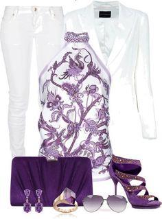 Purple n white...gorgeous