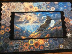 Jan Blattner Campbell Panel Quilts, Quilt Blocks, One Block Wonder, Millefiori Quilts, Landscape Art Quilts, Kaleidoscope Quilt, Patriotic Quilts, Hexagon Quilt, Quilted Wall Hangings
