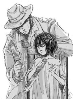 Kenny Ackerman and Levi (Rivaille)