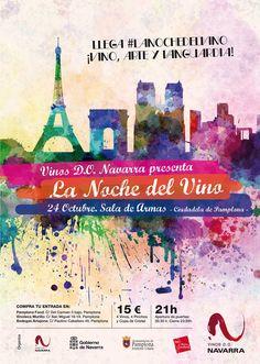 La Noche del Vino Navarra. 24 de octubre en la Sala de Armas de la Ciudadela de Pamplona.