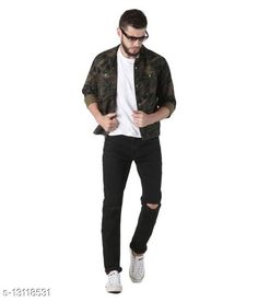 Checkout this latest Jackets Product Name: *Denim Jacket for Men* Fabric: Denim Sizes: S, M, L (Length Size: 26 in)  XL, XXL Country of Origin: India Easy Returns Available In Case Of Any Issue   Catalog Rating: ★4 (372)  Catalog Name: Trendy Elegant Men Jackets CatalogID_2560267 C70-SC1209 Code: 228-13118531-1602