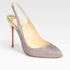 Christian Louboutin Glitter Slingback heels