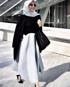 Hijab + Structured Skirt (majestee)