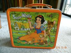 1975 Vintage Snow White and the Seven 7 Dwarfs Metal Lunch box tin Thermos Cards | eBay