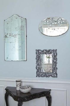 """DIY:: Easy Way to """"antique"""" A Mirror !  I love mirrors.  You can do so many things with them to decorate a space."""