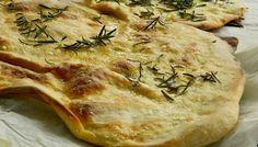 Schiacciata con Olio e Rosmarino (Italian Flat Bread with EVOO and Rosemary)