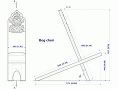 plank chair also called a bog chair