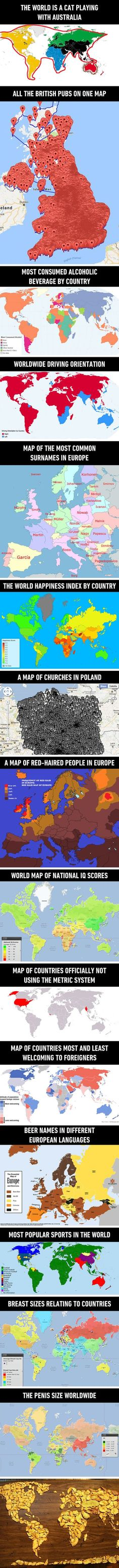 15 Amazing maps of the world that school didn't show us