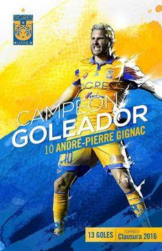 Andre-Pierre Gignac gran goleador de la clausura 2016