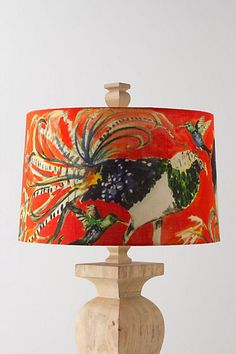 need lamp - would add great colour and interest to the room.  Avian Curiosities Shade #anthropologie