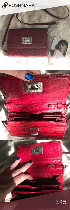 Beautiful red leather Brighton purse. Brand new Red leather Brighton purse. Brighton Bags Mini Bags
