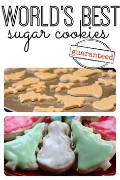 Tried and true- we make this Christmas sugar cookie recipe year after year! Seriously, they really are the World's Best Sugar Cookies! Worlds Best Sugar Cookie Recipe, Best Sugar Cookies, Sugar Cookies Recipe, Cookie Recipes, Dessert Recipes, Best Tasting Sugar Cookie Recipe, Icing Recipe, Best Christmas Sugar Cookie Recipe, Food Network Sugar Cookie Recipe