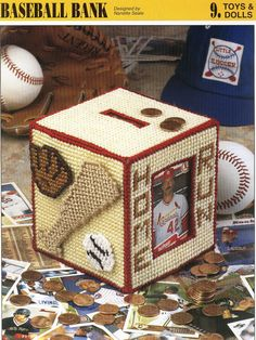 Baseball Bank Plastic Canvas Pattern by needlecraftsupershop, $3.50