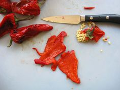 Harissa - Recipe for Spicy Middle Eastern Chili Garlic Sauce on ToriAvey.com