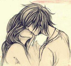 Cute Couple Kiss