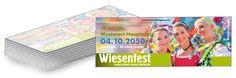 Formatiere die fertigen Vorlagen für die #Eintrittskarten mit den Daten von deinem #Wiesnfest.
