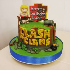 "Clash of Clans cake : ""One of our clash of clans creation, wanna have your own custom coc cake? Contact us @ 09771542782, like and share our page www.facebook.com/akilascupcake. Thanks friends.. """
